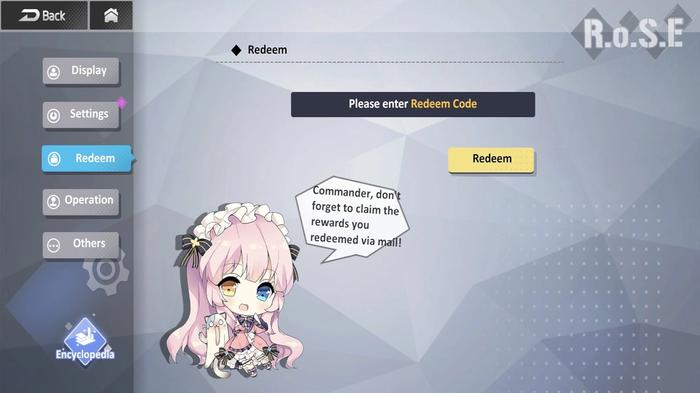 The Girl Cafe Gun codes redemption screen in the game.