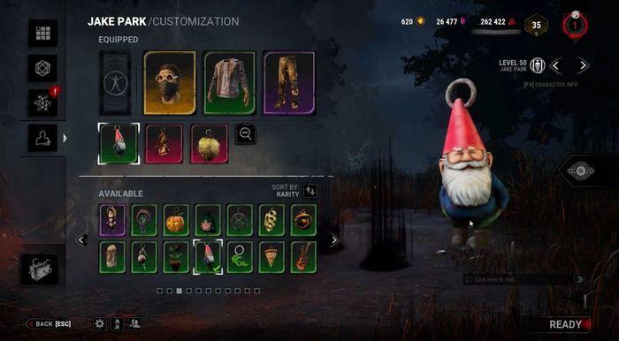 Gnome Chompski Charm in Dead by Daylight