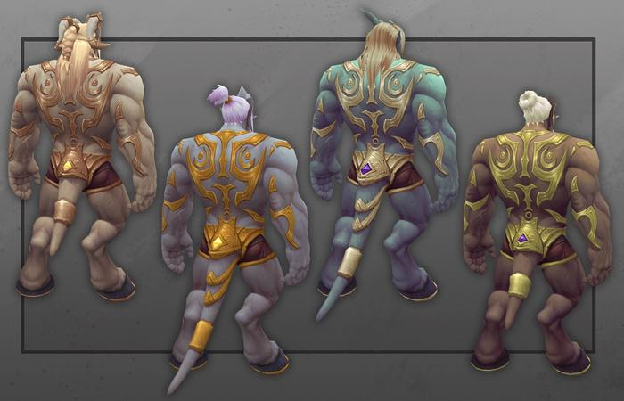 The first look at Lightforged Draenei customization coming in patch 9.1.5.