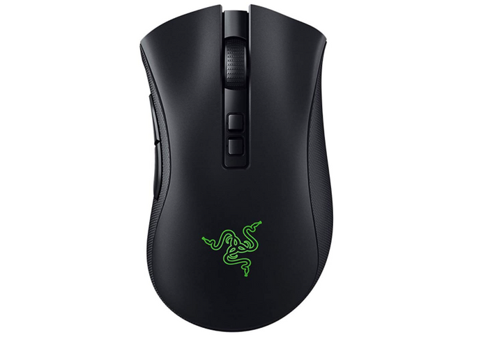best wireless mouse, image of a black and green gaming mouse
