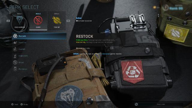 Warzone Restock Perk