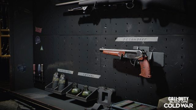 Marshal Pistol Hanging On Wall