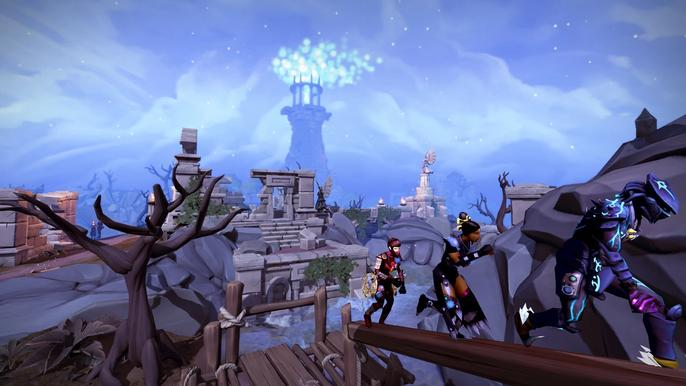 Screenshot from the open world Android game Runscape