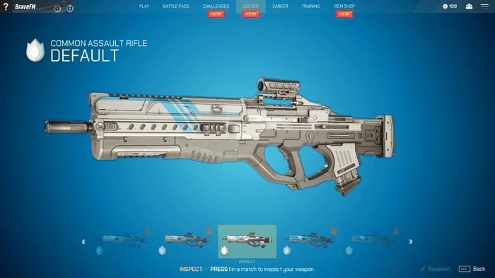 Image showing Splitgate assault rifle