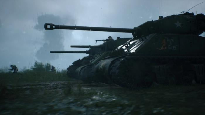 Screenshot from Hell Let Loose showing a trio of tanks.