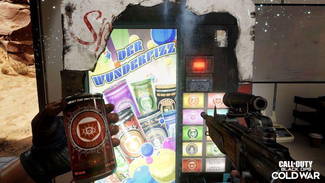 Der Wunderfizz Zombies Perk Machine With Death Perception In Left Hand