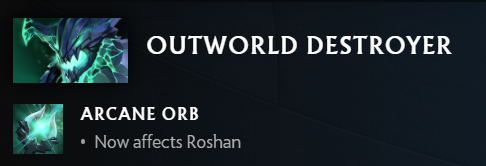 This image depicts the changes to Outworld Devourer with update 7.30 in DOTA 2.