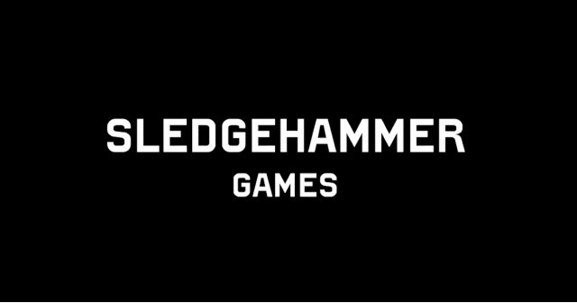 Sledgehammer Games Logo With White Text On A Black Background