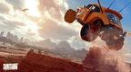 Saints Row 2022 4K Screenshot of buggy car doing a jump over canyon