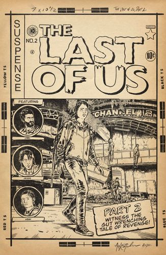 Image showing the last of us as a comic cover