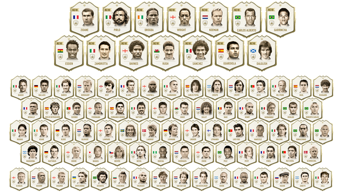 ICON 100 - We saw 100 ICONs in FUT for the first time this year.