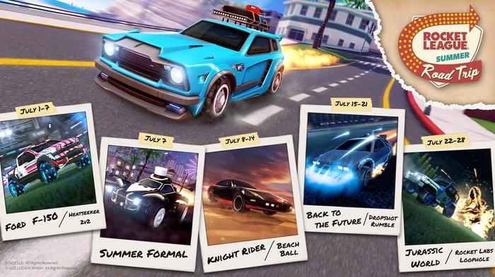 The Rocket League Summer Road Trip Roadmap Is Stacked With Cool Cars