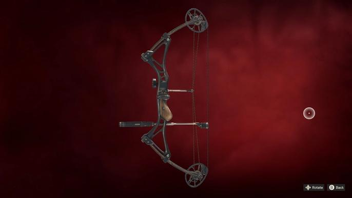 Far Cry 6's Guerilla Garrison for purchasing new weapons, including a bow.