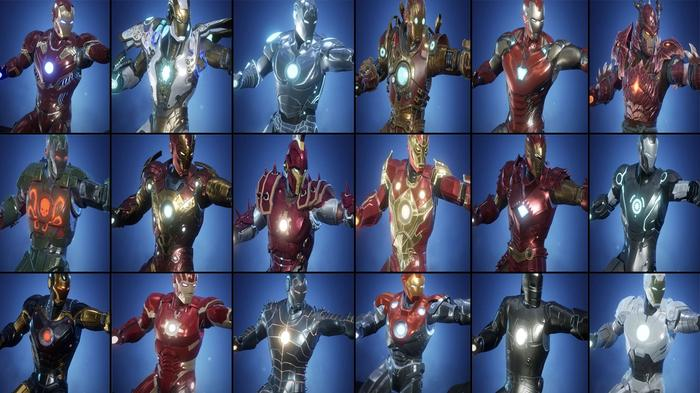 Every Marvel Future Revolution costume for Ironman.