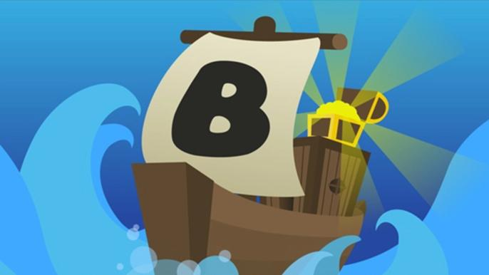 A brown cartoon boat sailing in seawater