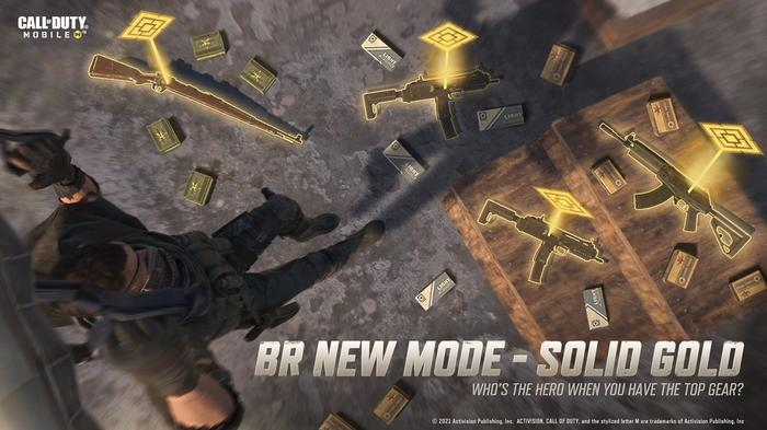 This image is a preview of the Solid Gold mode in COD: Mobile Battle Royale.