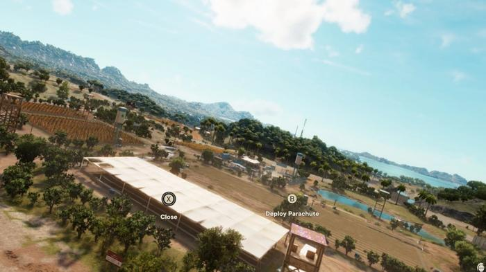 The Wingsuit in action in Far Cry 6.