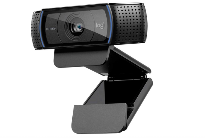 best webcam, product image of a black webcam