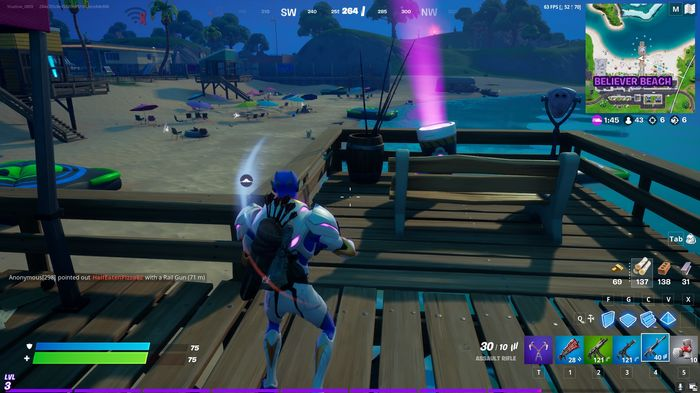 The second barrel at Believer Beach (Image via Epic Games)