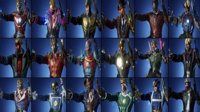 Every Marvel Future Revolution costume for Star-Lord.