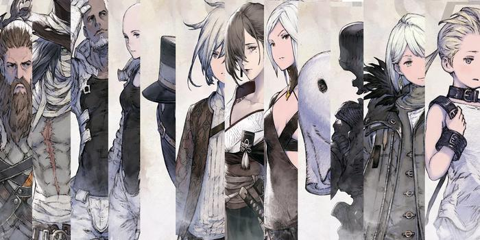A collage showing every known NieR Reincarnation character.