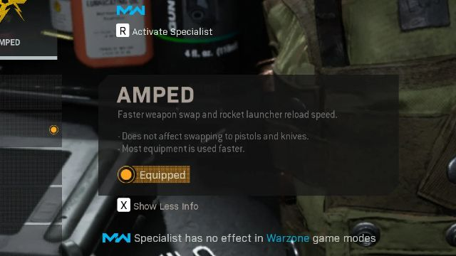 Amped Warzone Perk Best Perks