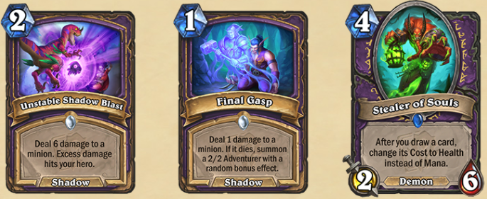 The new Warlock cards.
