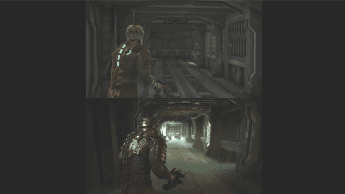 Image showing a Dead Space Remake graphics comparison