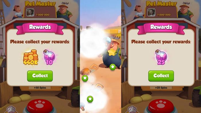 How to redeem Pet Master free spins and daily links in-game.