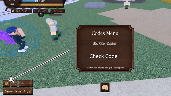 How to redeem One Piece Millennium 3 codes in Roblox.