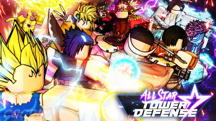 An array of famous anime character in All Star Tower Defense