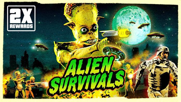 GTA Online Alien Survivals Mode Key Art