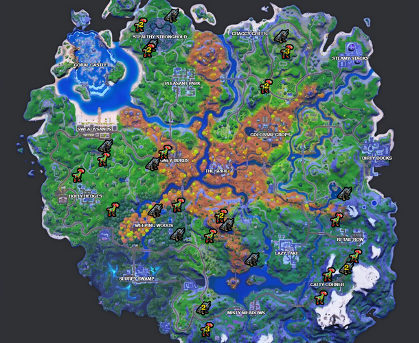 Fortnite Wolf and Raptor locations