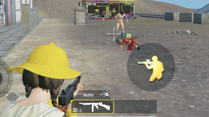 An in-game screenshot showing the PUBG Mobile OTS button in view.