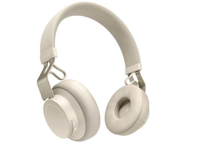 best budget wireless headphones, product image of off-white headphones