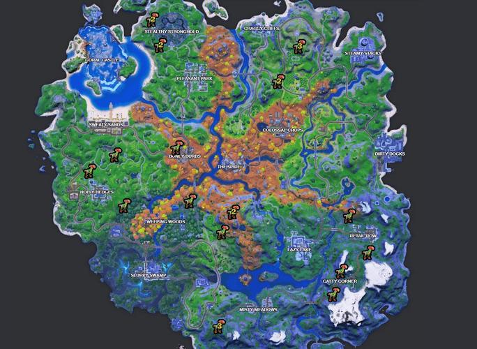 Fortnite Raptor spawn locations