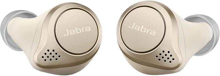 Best Earbuds For Calls Jabra, product image of gold earbuds