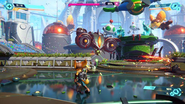 Ratchet and Clank Rift Apart Goon Dropship Boss Fight