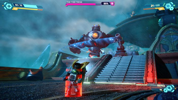 Ratchet and Clank Rift Apart Francois boss fight tide twins