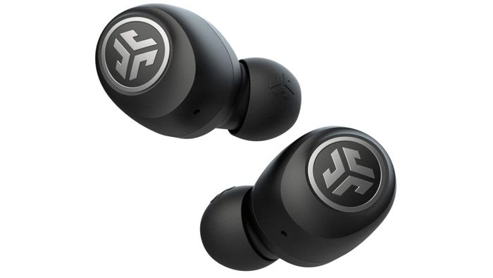 Best Earbuds Budget Choice JLab, product image of black earbuds