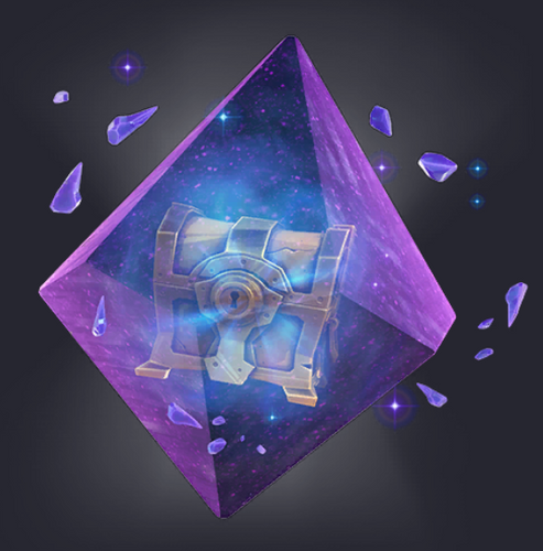 A Cosmic Chest encased inside crystals in Fortnite Chapter 2 Season 7