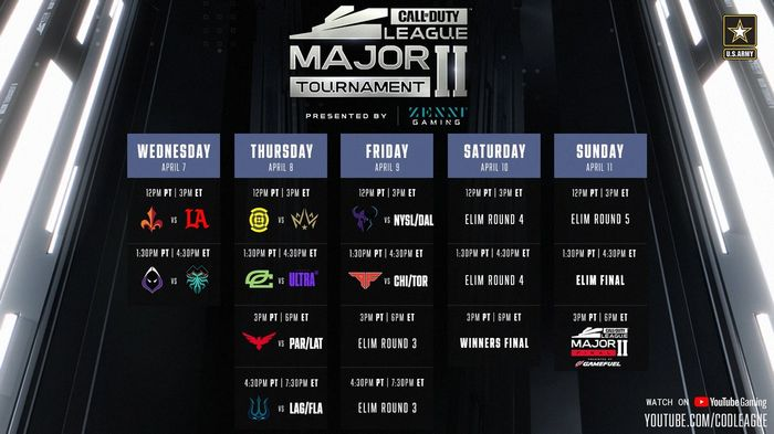 CDL 2021 Stage 2 Major Schedule Dates