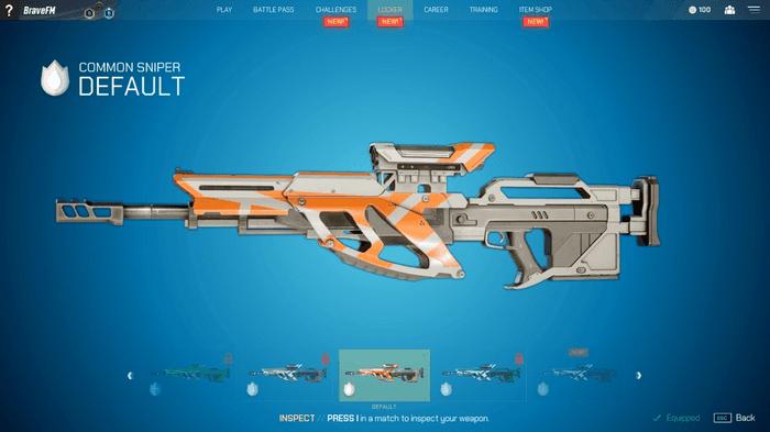 Image showing Splitgate sniper rifle
