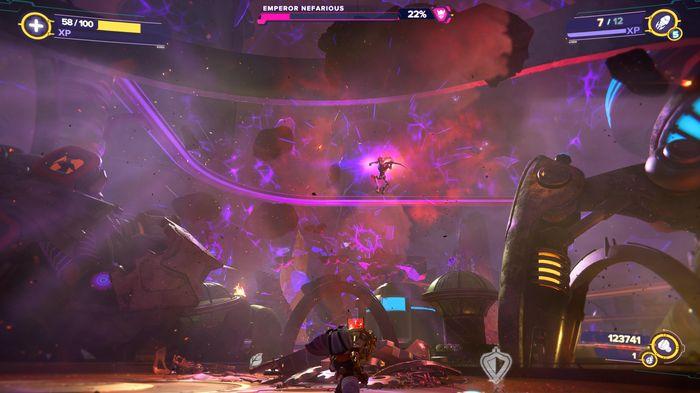 Ratchet and Clank Rift Apart Emperor Nefarious final boss fight