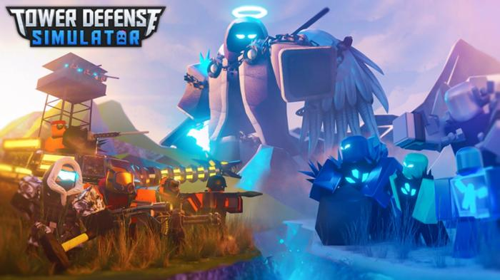 Two forces face off against each other as a giant with a scythe and halo watches