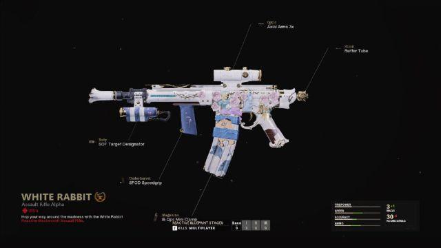 White Rabbit XM4 Warzone Weapon Blueprint