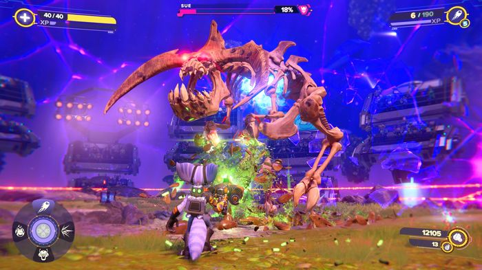 Ratchet and Clank Rift Apart Sue Grunthor boss fight