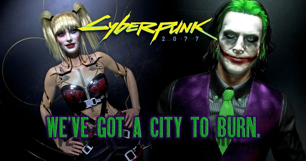Cyberpunk 2077 mod gives players the ability to be The Joker or Harley Quinn