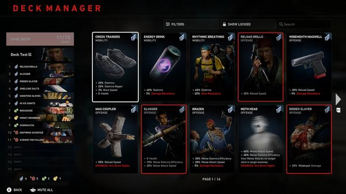 Back 4 Blood  deck manager for custom deck for solo campaign