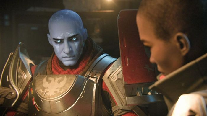 Image from Destiny 2 showing Commander Zavala and Ikora Rey in conversation during a cutscene.